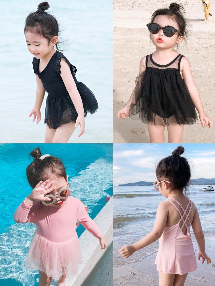 Cute Baby Women's Children 2 Princess 3 To 4 Years Old KID'S Swimwear Chinlon 5 CHILDREN'S One-piece GIRL'S Skirt Swimwear
