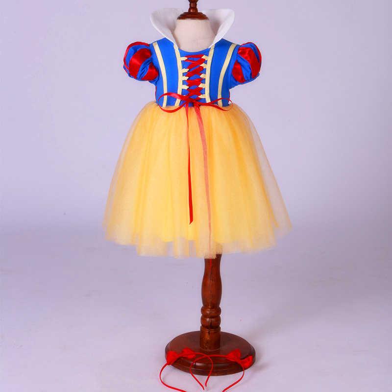 Comprar Um Obter Um Livre! Carnaval Crianças Traje Da Bruxa do Dia Das Bruxas natal Vestido de Branca de Neve Princess Dress Up Vestido de Fadas para Meninas