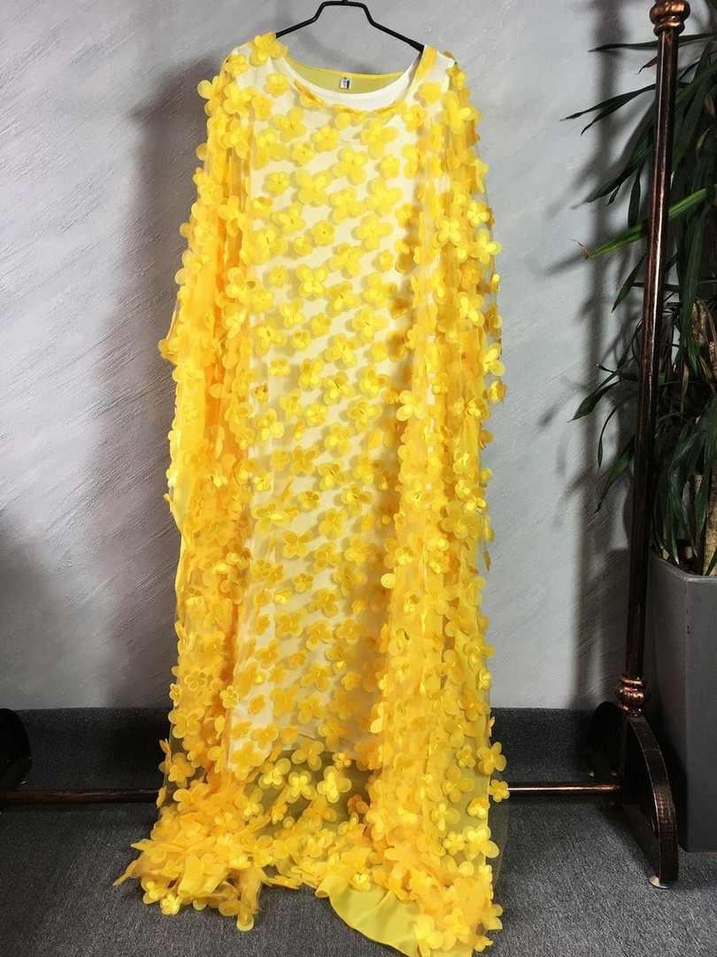 חדש סגנון אפריקאי נשים בגדי דאשיקי גזה בת שרוול loose ארוך שמלה + בתוך