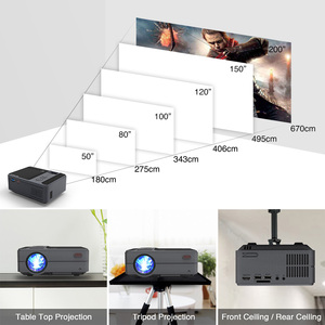 Image 5 - C180AB Portable Mini Wireless WiFi LED Smart Android Projector 720p Built in Speaker Bluetooth Full HD Home Theater Video Beamer