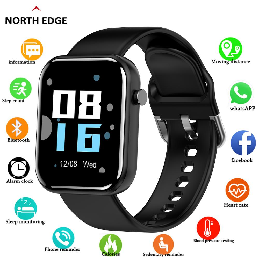 NORTH EDGE 2020 Smart Watch Men Women Blood Pressure Smartwatch Waterproof Heart Rate Tracker Sport Watch Smart For Android IOS