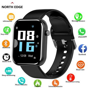north edge smart watch women men smartwatch for android ios electronics smart clock fitness tracker heart rate smart watch hour NORTH EDGE 2020 Smart Watch Men Women Blood Pressure Smartwatch Waterproof Heart Rate Tracker Sport Watch Smart For Android IOS