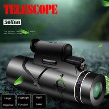 50X60 HD haute qualité monoculaire Vision nocturne télescope soutien lampe de poche Laser jumelles puissantes pour la chasse Camping