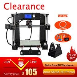 Anet A6/A8 Auto level & Normalen 3D Drucker 0,4mm Düse i3 Aluminium Legierung Brutstätte Pritner DIY Kit filament 8G SD Karte