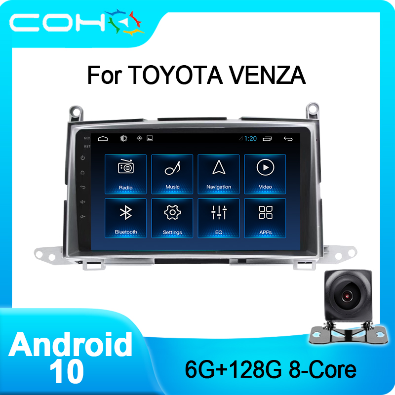 COHO для Toyota Venza 2008-2015 Gps-навигатор автомобильный стерео Dvd Авторадио Android 10,0 Octa Core 6 + 128G