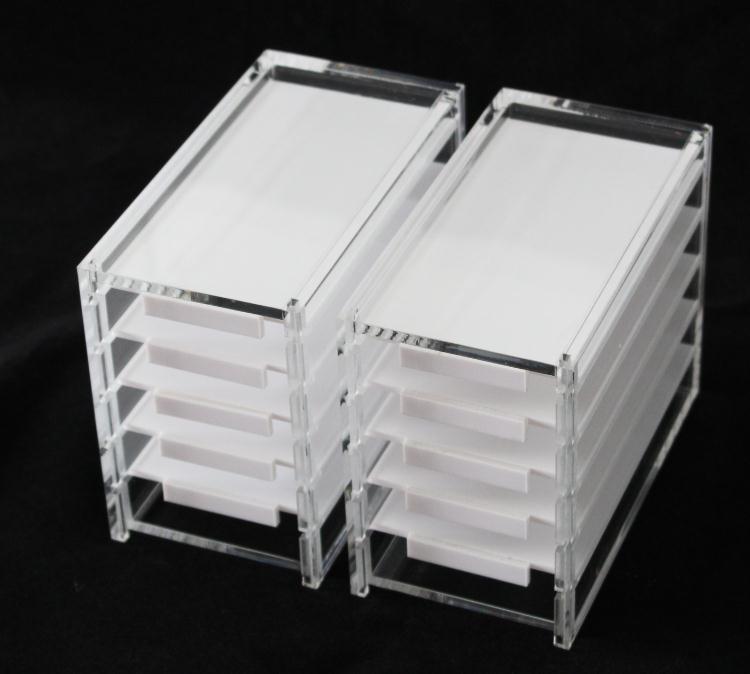 20pcs 5 Layers Acrylic Clear Eyelash Storage Box Makeup Organizer False Eyelashes Glue Pallet Holders SN474