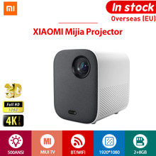 [Versão global] xiaomi mijia 4k projetor tv completa hd 1080p ue 3d ai 500ansi 2 + 8gb 30000 led wifi bluetooth suporte teatro
