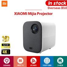 [הגלובלי גרסה] XIAOMI Mijia 4k מקרן טלוויזיה מלא HD 1080P האיחוד האירופי 3D AI 500ANSI 2 + 8GB 30000 LED Wifi bluetooth סוגר קולנוע