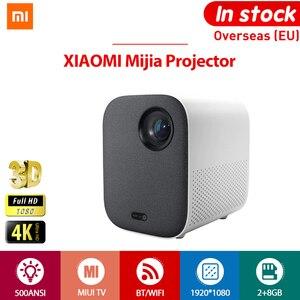 Image 1 - [Глобальная версия] XIAOMI Mijia 4k Проектор проэктор проектор full hd ЕС 3D AI 2 + 8GB HD 1080P 30000 LED Wi Fi Bluetooth SJL4014GL Полный кронштейн для театра проектор новогодний