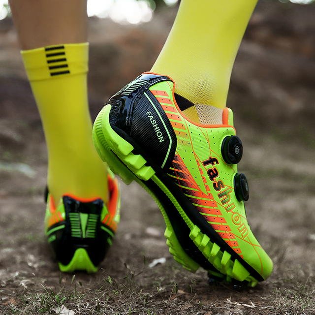 Novos homens e mulheres na estrada, mountain bike, bicicleta ultra-leve calçados esportivos, auto-bloqueio profissional respirável 2