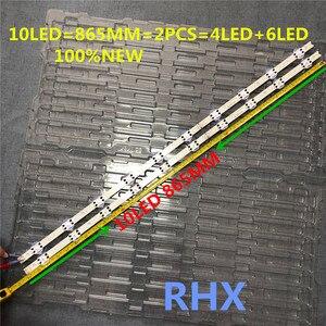 """Image 2 - 4 أجزاء/وحدة LED شريط إضاءة خلفي 10 مصباح ل LG 43 """"V17 art3 2867 التلفزيون 43LJ614V 43LV340C 100% جديد"""
