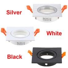10 шт черный белый серебристый Круглый Встраиваемый светодиодный