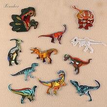 XINAHER динозавр вышивка нашивки для одежды DIY полосы Аппликации Наклейки для одежды Железный На значки животных