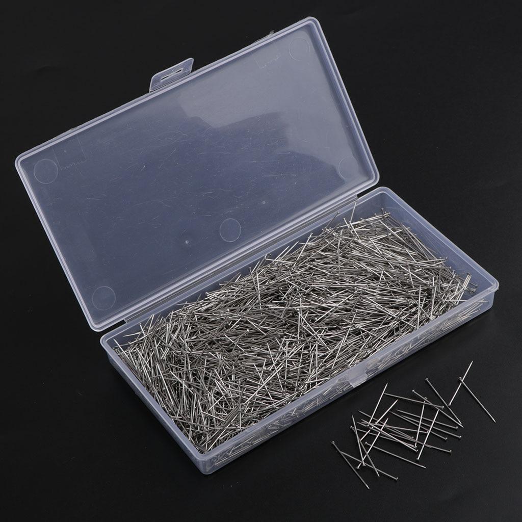 2000-Packs шпильки из нержавеющей стали для портнихи шпильки для изготовления ювелирных изделий, рукоделия и шитья длина 26 мм