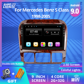 9'' Car Multimedia Player GPS 2Din Android For 1998-2005 Mercedes Benz S Class W220 S280 S320 S350 S400 S430 S500 S600 S55 AMG image