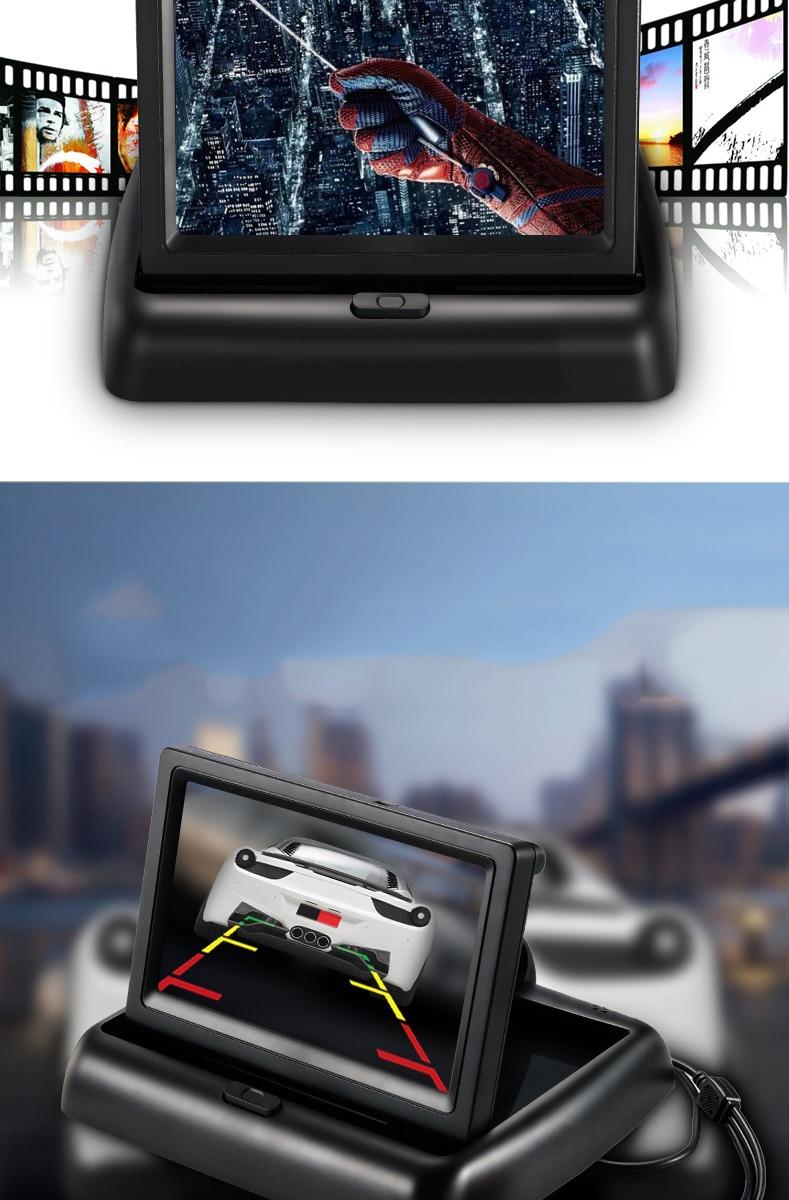 Wireless Car Monitor 4.3 TFT LCD Rear View Camer IR Universal Mirror Parking Assistance for ChevroletCruzeEpicaAveoMalibu  (19)