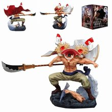 38 CM  GK New One Piece Top Battle White Beard vs. Red Dog Furious Daddy Edition Handmade Decoration