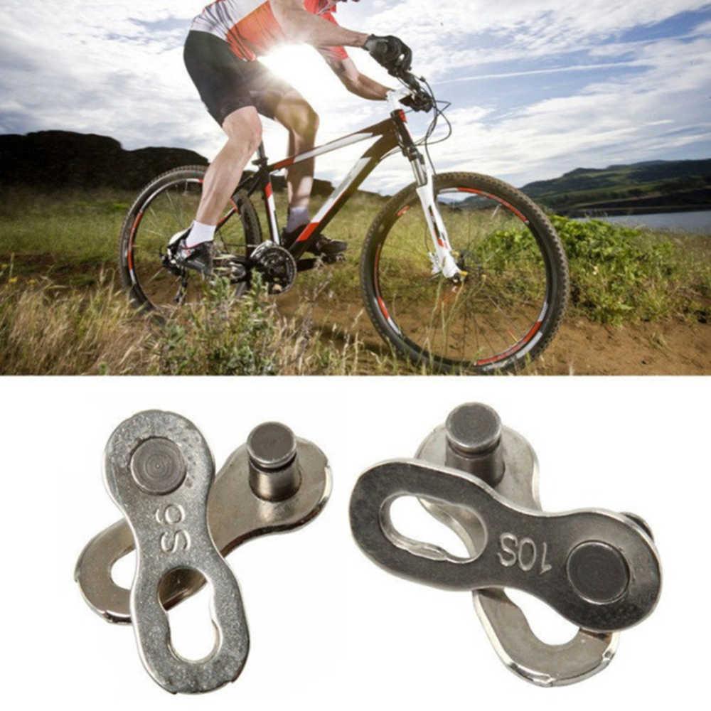 10 pares de eslabones de Cadena de Bicicleta plata que falta Cadena enlace de conectores Cadena Bicicleta para 6/7/8/9/10 Cadena de velocidad Repuestos Bicicleta