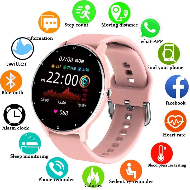 נשים חכם להקת שעון בזמן אמת מזג אוויר תחזית פעילות Tracker קצב לב צג ספורט גבירותיי חכם שעון גברים עבור xiaomi