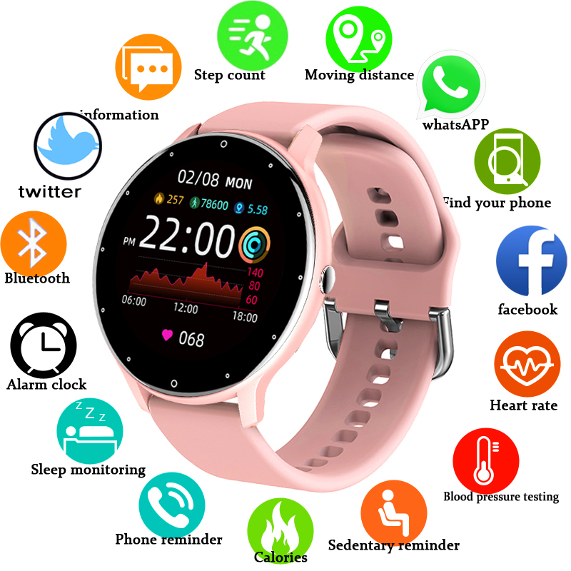 Women Smart band Watch Real-time Weather Forecast Activity Tracker Heart Rate Monitor Sports Ladies Smart Watch Men For Xiaomi