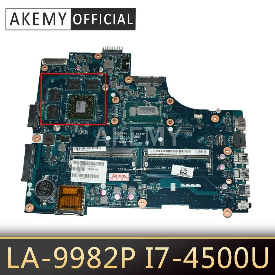 LA-9982P материнская плата для ноутбука Dell Inspiron 15R-5537 3537 оригинальная материнская плата DDR3L-RAM I7-4500U HD8850M-2GB