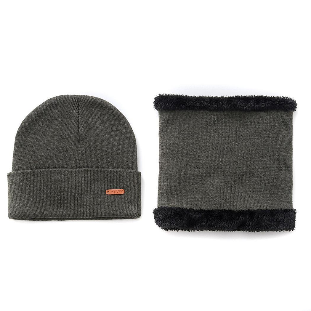 Parent-child Winter Casual Tough Headwear Solid 1 X Hat, 1 X (for Adults) Hats Scarf Set 1 X Hat, 1 X (for Kids)