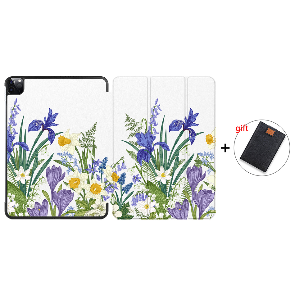 IP15 Brown MTT Case For iPad Pro 11 inch 2nd Gen 2020 Funda A2228 A2231 Slim PU Leather