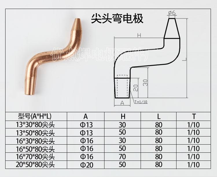 Spot Welder Electrode Tip Spot Welding Head Alumina Copper 16 30 80mm Chrome Zirconium Copper Electrode Tip Electrode Cup