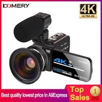 Cámara web 4K, videocámara Digital Vlogging Zoom, 3,0 pulgadas, pantalla táctil, visión nocturna, WiFi