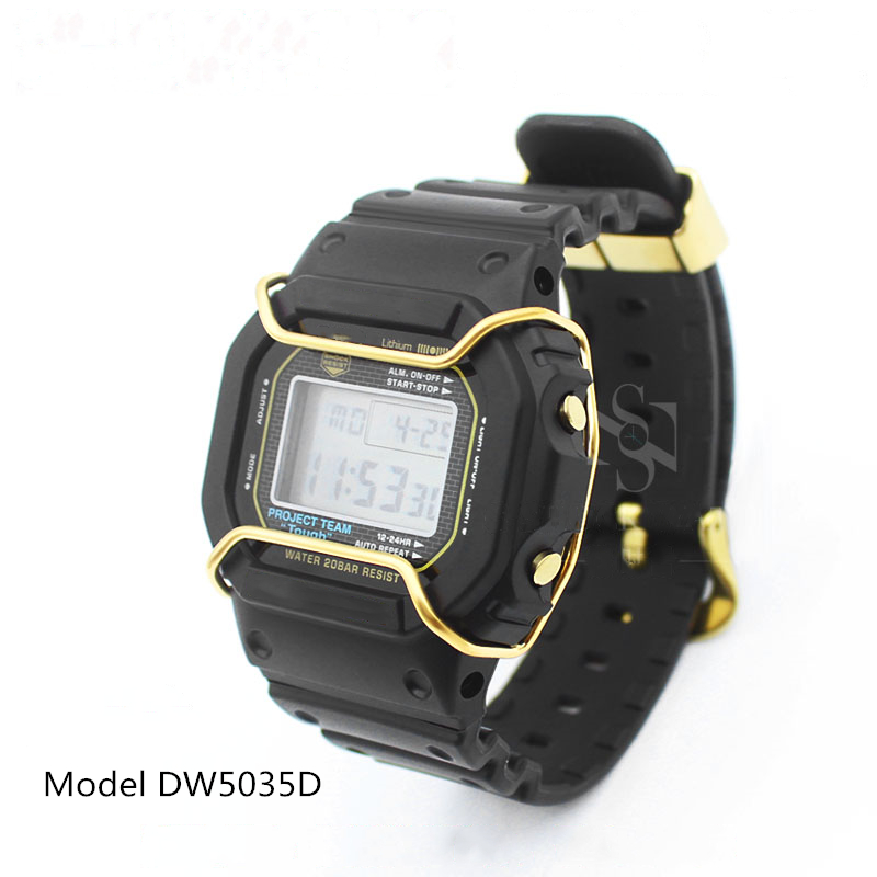 Vecileon Modification Watch Bumper GW-M5610 DW5600 GW5000 5035 Protector Stainless Steel Watch Accessories Gift For Men/Women