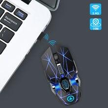 Профессиональная игровая мышь 24 ghz беспроводная оптическая