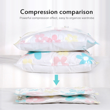 130*100cm Flower Home Vacuum Bag for Clothes Quilt Transparent Storage Bag Foldable Compressed Organizer Space Saving Seal Bags clothes storage bag compressed vacuum bag for clothes quilt bedding pillow folding clothes organizer travel saving space bags