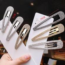 Golden Metal Hairpin Diamond Drip Fashion Geometry Crystal Rhinestone Hair Clips For Women Hair Accessories