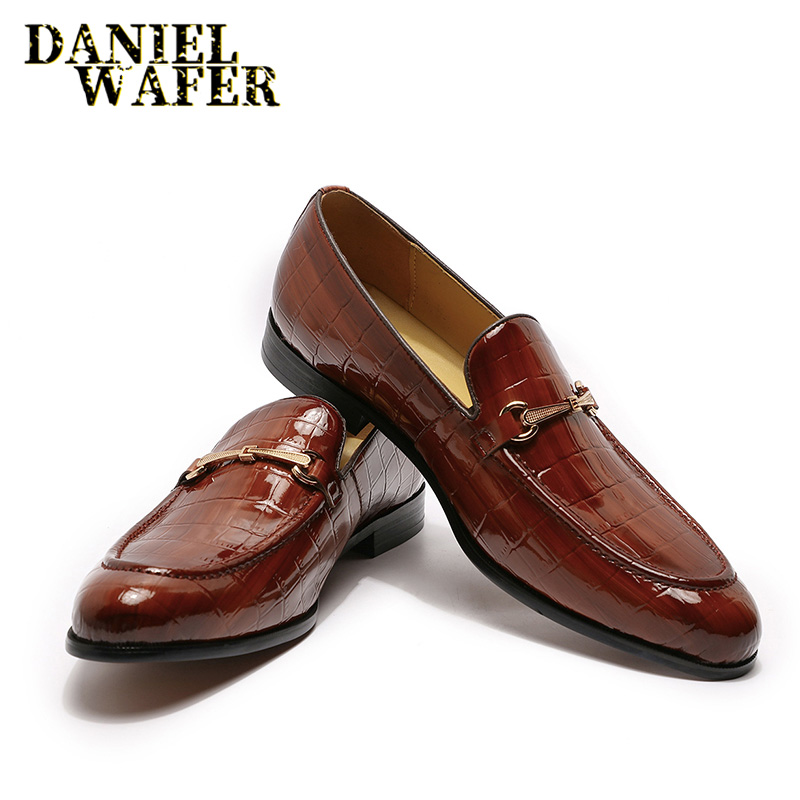 LUXURY BRAND CASUAL MEN GENUINE LEATHER SHOES SLIP ON BLACK BROWN HAZEL LOAFERS BUSINESS SHOES
