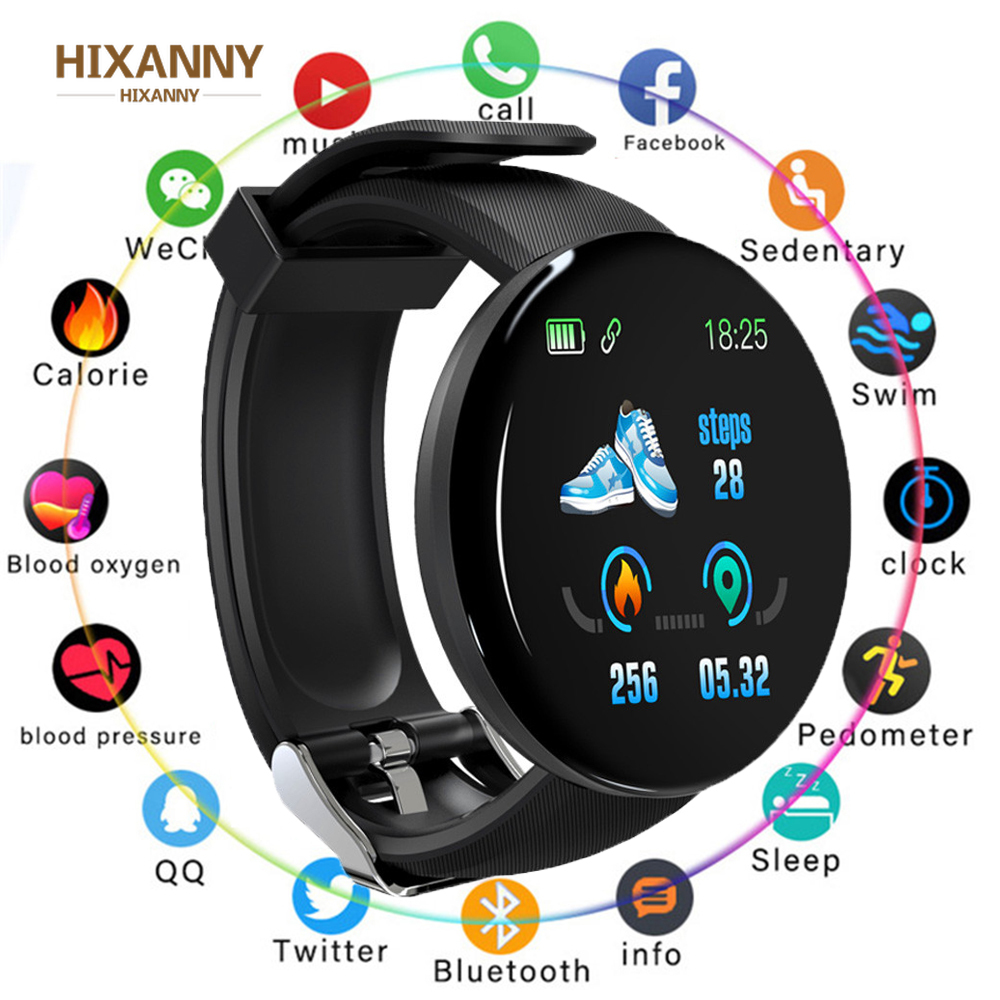 D18 Smart Watch Sleep Tracker Heart Rate Tracke Smart Watch Men Women Blood Pressure Sport Smartwatch Blood Oxygen Sports Watch