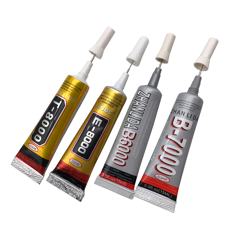 Adhesive Glue 15ml 25ml E8000 B6000 B7000 Moblie Phone Screen Adhesive Jewelry DIY Decorative For Plastic Glass Fix T-8000