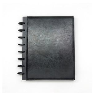 Image 3 - Fromthenon A5 버섯 Discbound 노트북 가죽 커버 8 구멍 느슨한 잎 나선형 플래너 바인딩 커버 사무실 학교 편지지