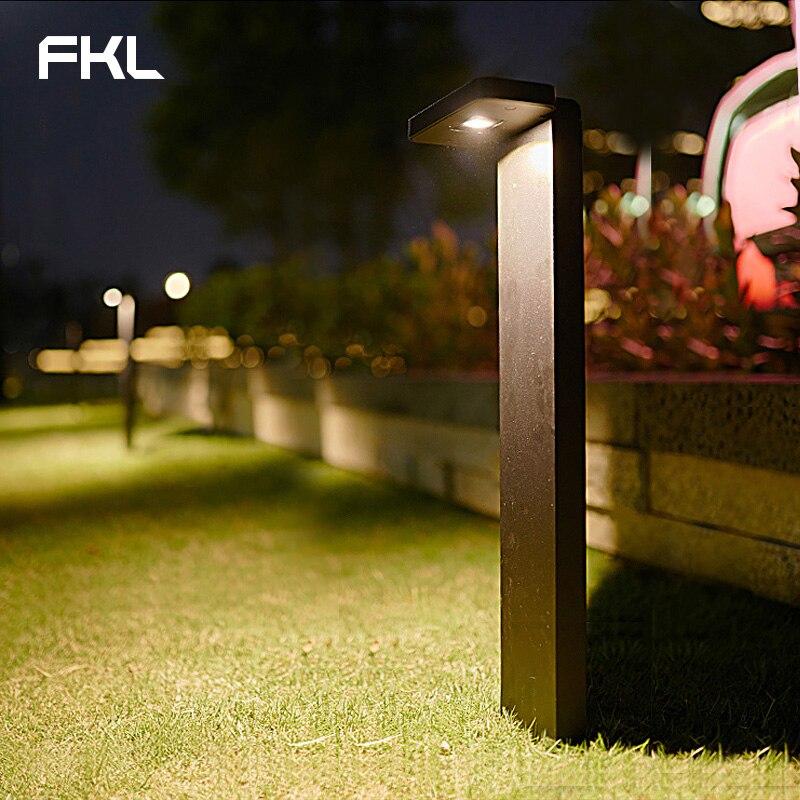 FKL Garden Light LED Outdoor Waterproof Street Light Simple Modern Square Park Lawn Villa Outdoor Grass Light