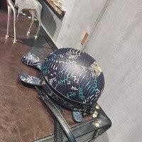 2019 new cute cartoon little tortoise pillow bag retro simple one shoulder oblique span girl bag