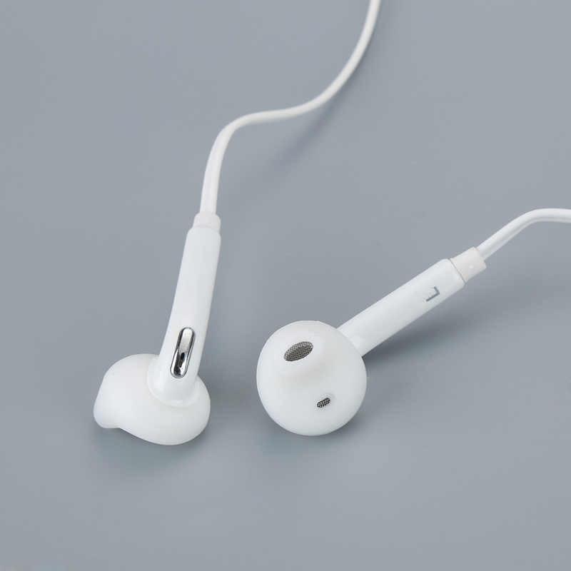 Biały przewodowy zestaw słuchawkowy douszne słuchawki z mikrofonem do Samsung Galaxy S6 3.5mm Jack słuchawki do telefonu komórkowego