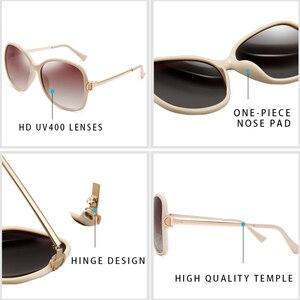 Image 3 - PARZIN 2019 marka moda büyük çerçeve kadın polarize güneş gözlüğü yüksek kaliteli Vintage Metal tapınak tasarım güneş gözlüğü