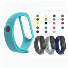 19 Colors Strap For Xiaomi Mi Band 4 3 Replacement Silicone Strap Wristband Sport Smart Bracelet Replacement Strap(China)