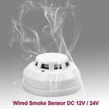 GZGMET 12V DC Rauchmelder Photoelektrische Home Alarm Sensor Feuer Sicherheit Detektor für Verdrahtete Alarm System