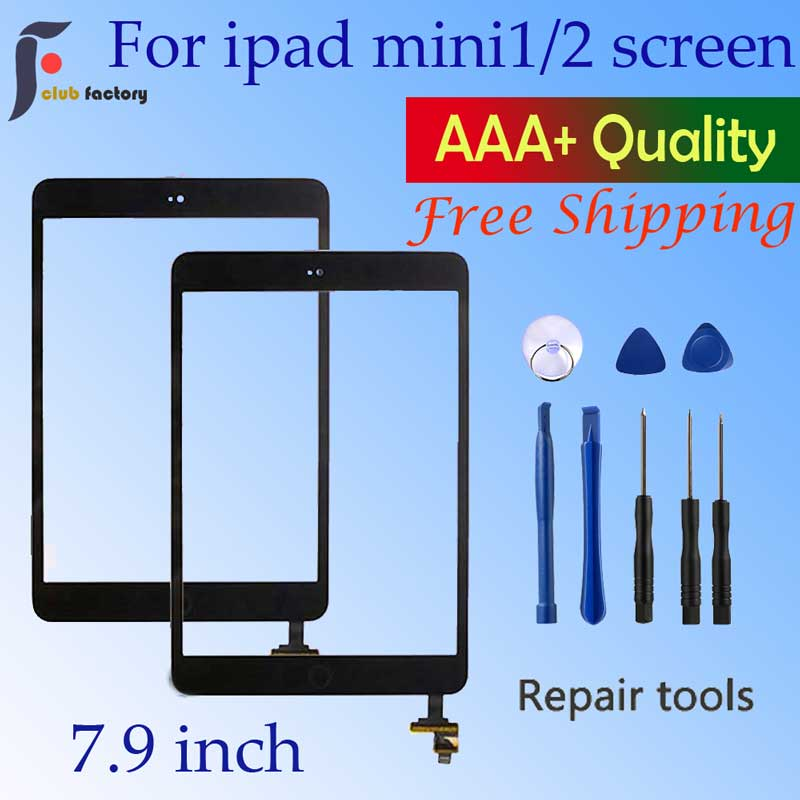 Touch Screen Glass Digitizer Panel For Ipad Mini 1 & 2 For Ipad Mini A1432 A1454 A1455 A1489 A1490 A1491  And Repair Tool Kit