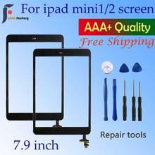 Painel digitalizador de tela sensível ao toque, para ipad mini 1 e 2 para ipad mini a1432 a1454 a1455 a1489 a1490 a1491 e ferramenta de reparo kit de