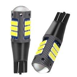 2PCS New T15 W16W WY16W Super Bright LED Car Tail Brake Bulb Turn Signals Auto Rear Fog Lamp DRL Light Red White Yellow