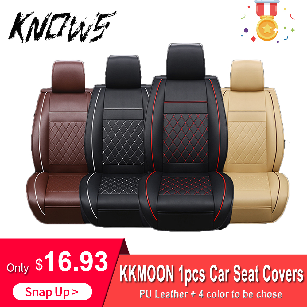 KKMOON 1pc Universal All Car Leather Support Pad Car Seat Covers Cushion Accessories autocovers for cars Auto Interior