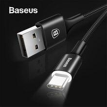 Baseus usb type-C кабель USB C для samsung S9 S10 светодиодный кабель освещения type C для huawei P30 Lite Pro USB-C кабели для мобильных телефонов