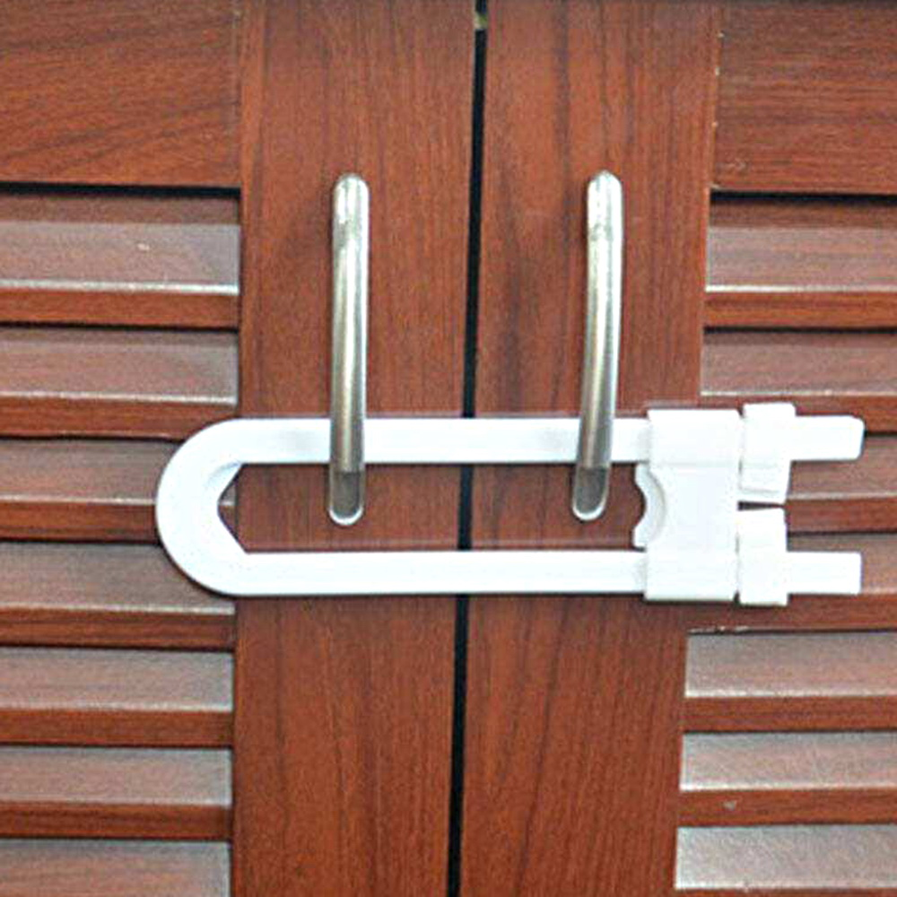 Prevent Child From Opening Drawer Cabinet Door U Shape Baby Safety Lock Protection Lock Children Safety Lock