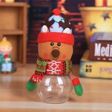 Милая Пижама с рождественским принтом, пижама консервная банка конфеты Таблица декора дома подарок для хранения еды, печенья баночка для детских подарков, конфеты, украшения